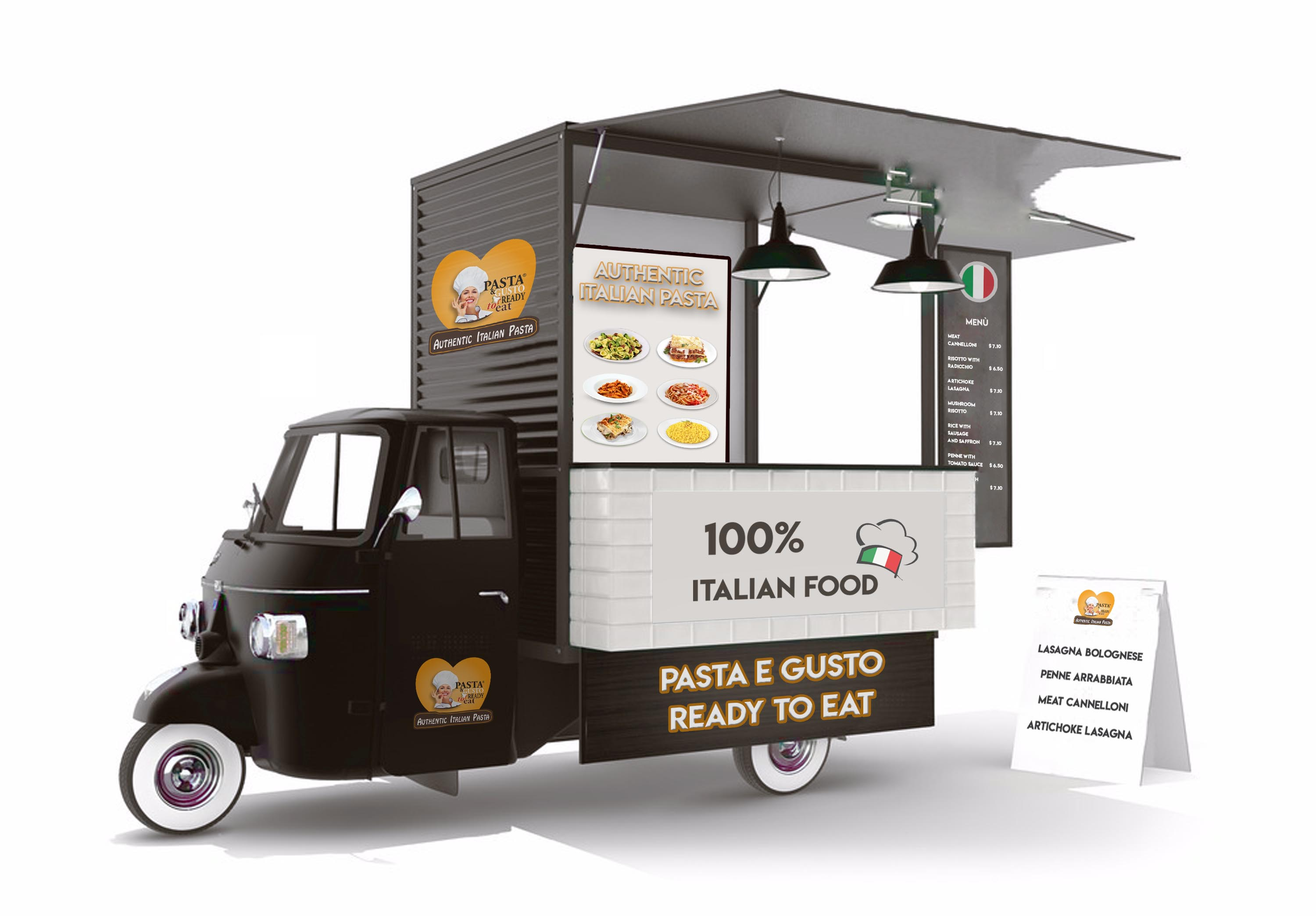 Pasta Ready Meals to Eat Food Truck