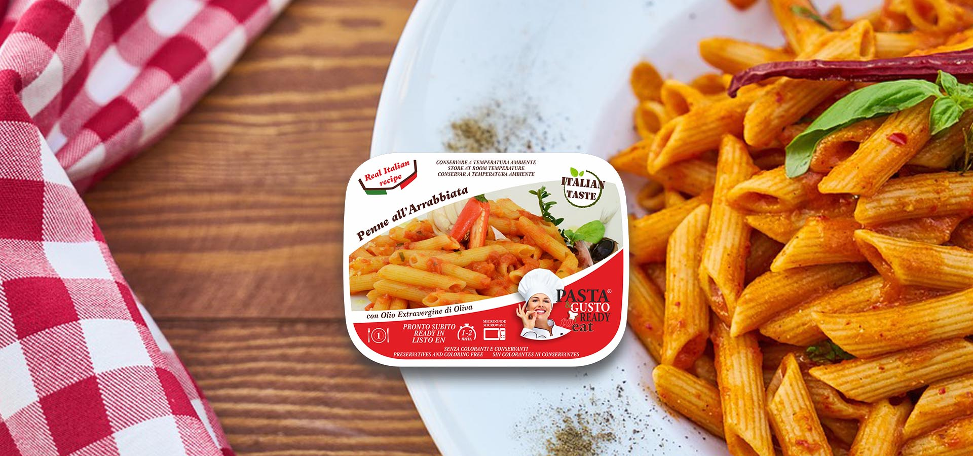 Pasta Ready To Eat Slider Penne Arrabbiata