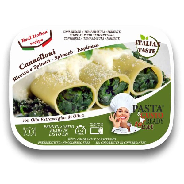 Ricotta and Spinach Cannelloni Pasta Ready To Eat