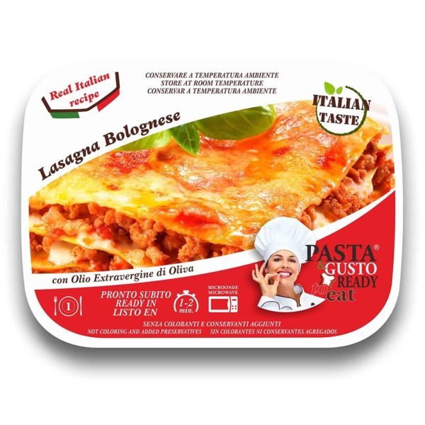 Lasagna Bolognese Cover Pasta Ready To Eat