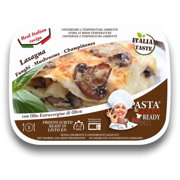 Mushrooms Lasagna Pasta Ready To Eat