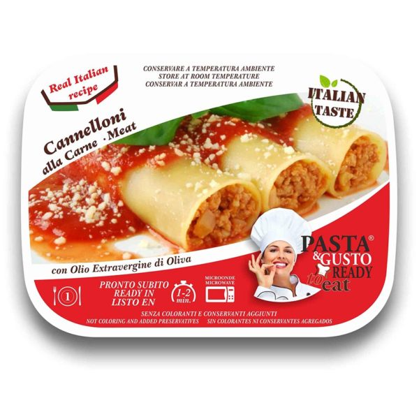 Meat Cannelloni Pasta Ready To Eat