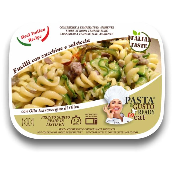 Pasta Ready Meals Fusilli zucchini and sausage