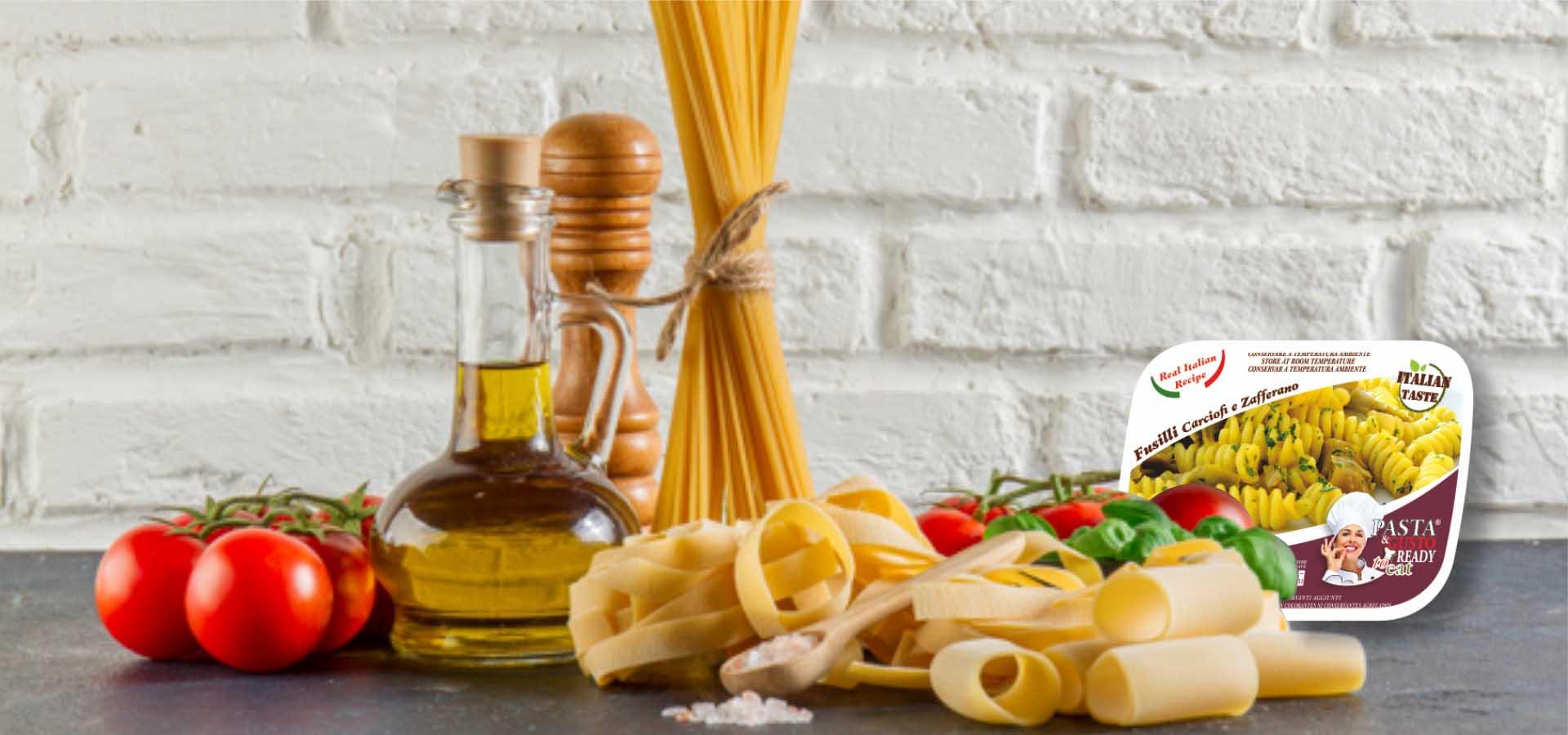 Pasta Ready To Eat Slider Fusilli Carciofi Zafferano Ready Meals